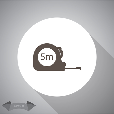 millimeters: Construction measuring tape illustration. Vector icons five meters Illustration