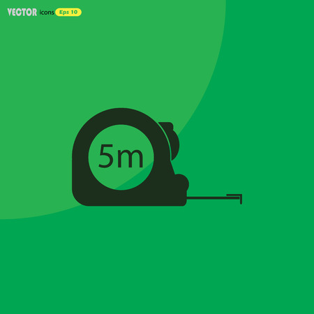 gauging: Construction measuring tape illustration. Vector icons five meters Illustration