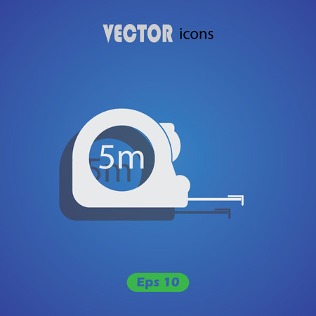 meters: Construction measuring tape illustration. Vector icons five meters Illustration