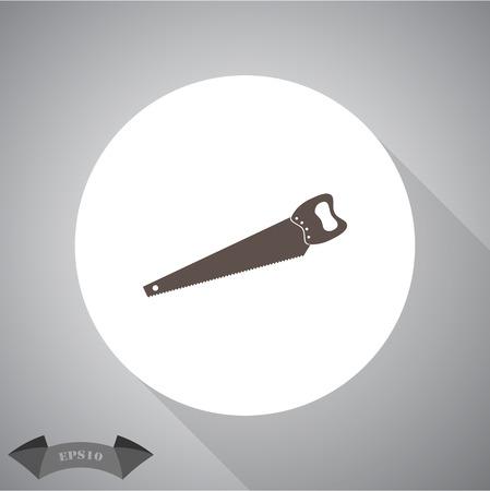 crosscut: The saw icon. Saw symbol. Illustration
