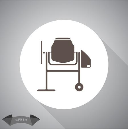 concrete mixer: Concrete mixer icon