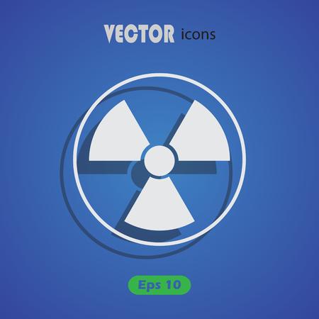 irradiation: The radiation icon. Radiation symbol.