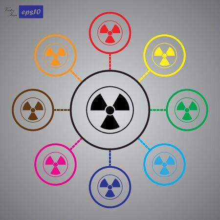 caution chemistry: The radiation icon. Radiation symbol.