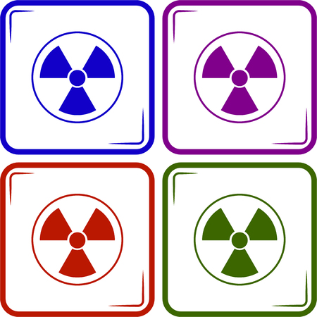 cesium: The radiation icon. Radiation symbol.