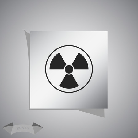 plutonium: The radiation icon. Radiation symbol.