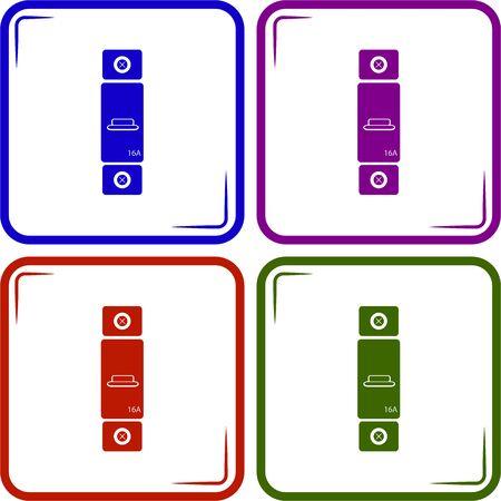 kilowatt: One-phase machine 16 amps icon