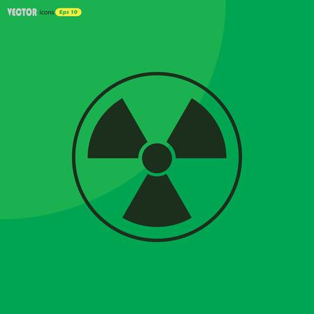 radiation symbol: The radiation icon. Radiation symbol.