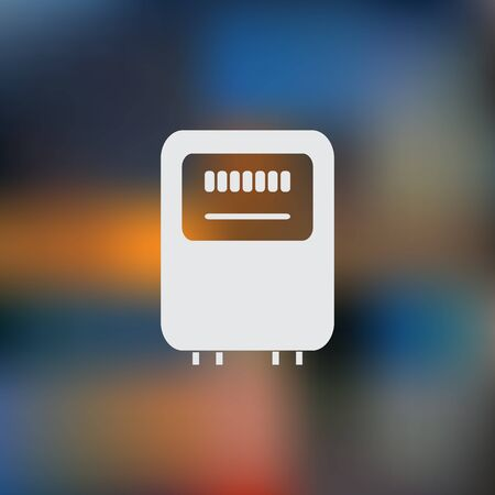 kilowatt: Electricity power counter icon. Measurement sign. Vector