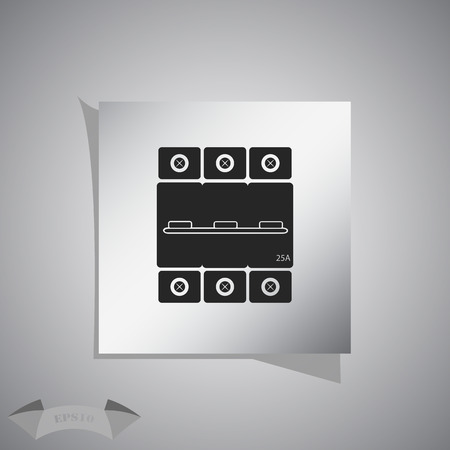 enable: Three-phase machine 25 amps icon Illustration