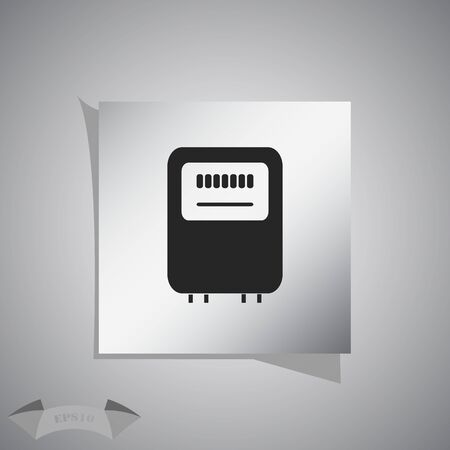 measurement: Electricity power counter icon. Measurement sign. Vector