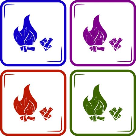 flammable warning: Bonfire icon