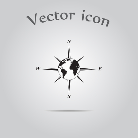 Wind rose vector icon