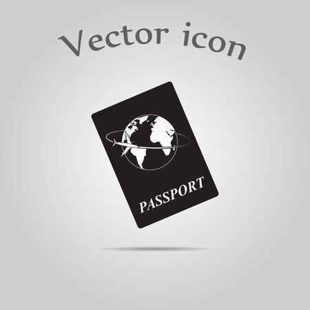 emigration and immigration: Passport icon