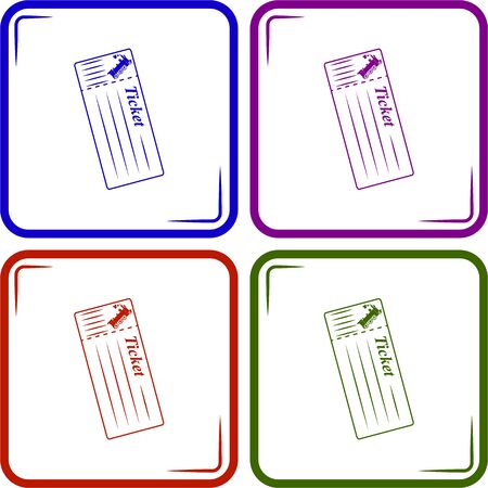 train ticket: Train ticket Vector icon Illustration