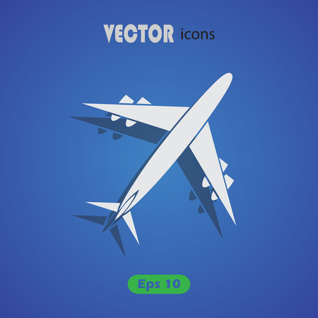 airways: Vector icons aircraft