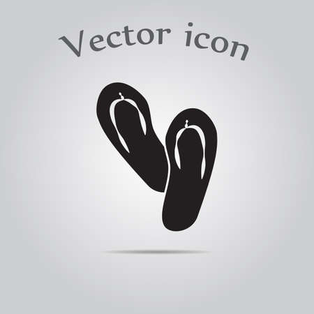 beach slippers: Beach slippers icon Illustration