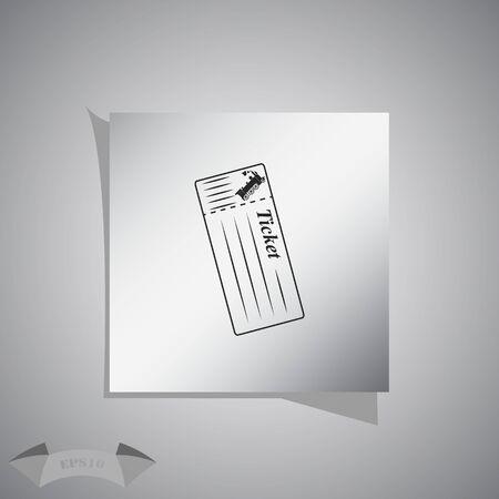 intercity: Train ticket Vector icon Illustration