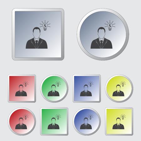 businessman thinking: Businessman thinking. Vector icon