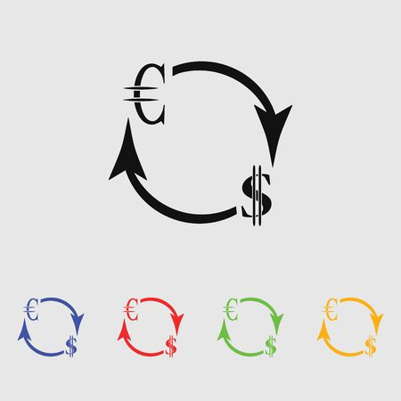 convert: Money convert icon. Euro Dollar