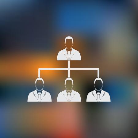 jerarquia: concepto de jerarqu�a corporativa.