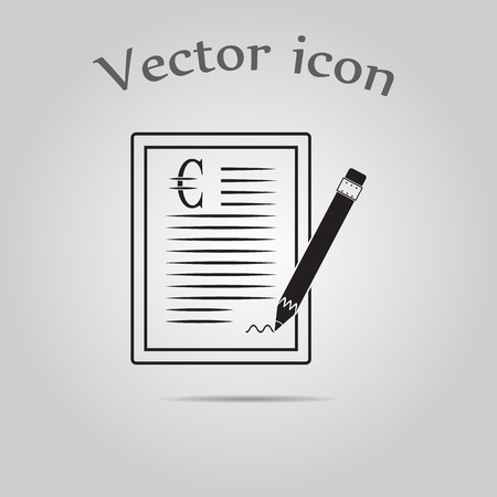 indenture: The euro contract icon.