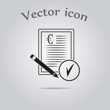 conclude: Euro contract vector icon
