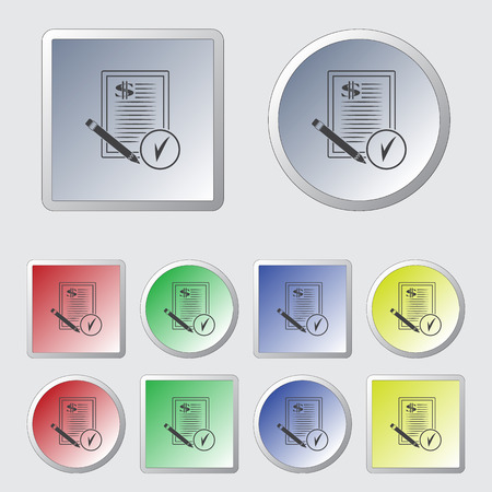 conclude: Dollar contract vector icon Illustration