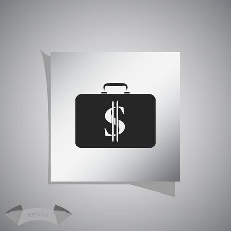 in case: Closed Case with dollar Illustration