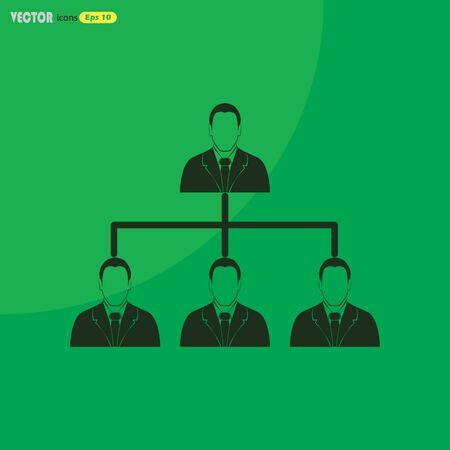 jerarquia: concepto de jerarquía corporativa.