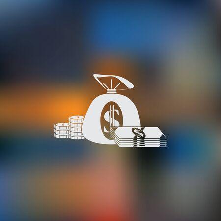 million: Money vector icon Illustration