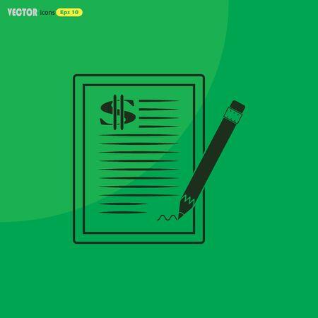 pacto: El icono de contrato de dólar.