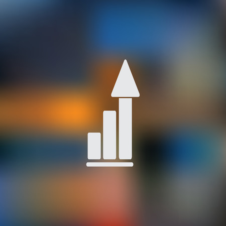 growth chart: Vector growing graph icon