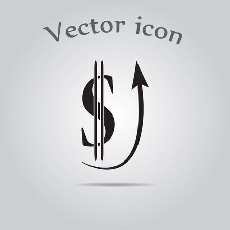 capital gains: The Dollar Sign Is Rising icon Illustration