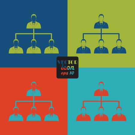 hierarchy: Corporate hierarchy concept. Illustration