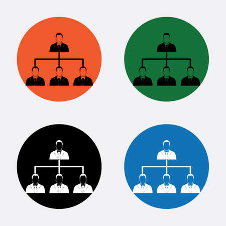 corporate hierarchy: Corporate hierarchy concept. Illustration