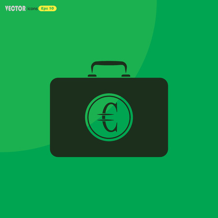 money packet: Closed Case with euro Illustration