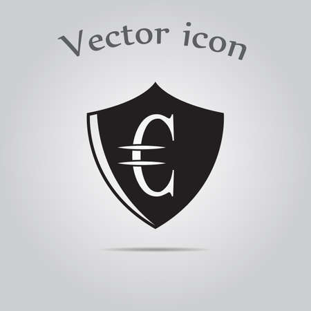euro: Euro Protection vector icon.
