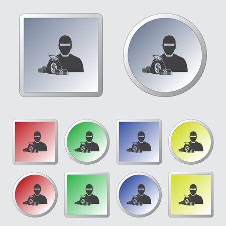 Thief vector icon Illustration