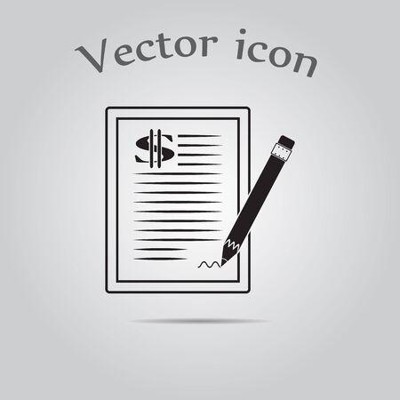 pacto: El icono de contrato de d�lar.