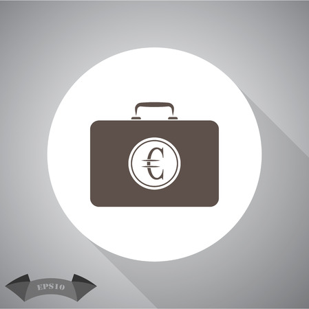 case: Closed Case with euro Illustration
