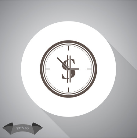 time account: Time is money icon