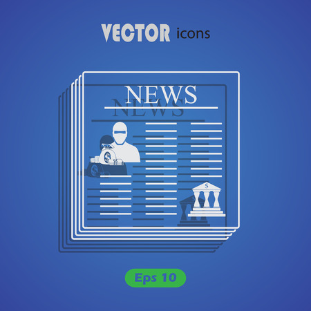 robbery: Robbery newspaper icon