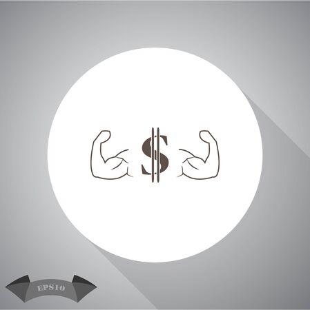 dollar icon: muscles dollar icon