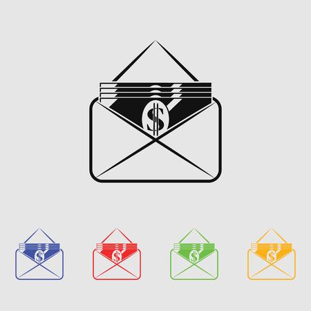 rebate: Money envelope icon