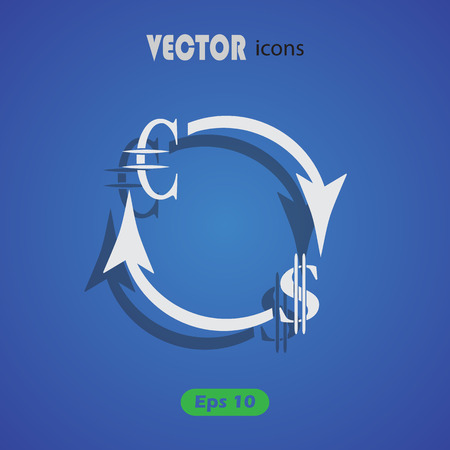 refresh rate: Money convert icon. Euro Dollar