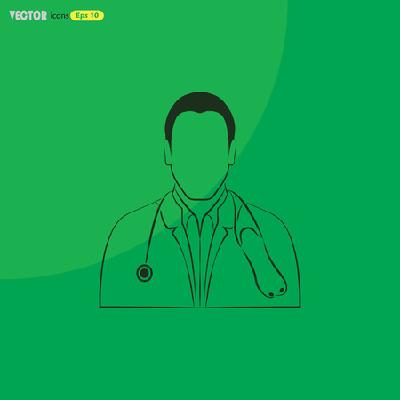 practitioners: Doctor with stethoscope icon
