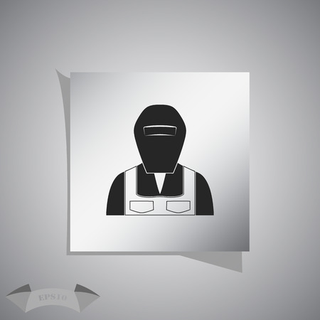 welder: Welder  icon Illustration