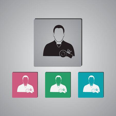 umpire: Referee icon Illustration