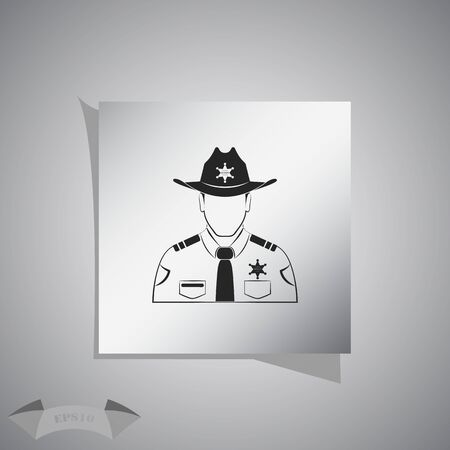 sheriff: Sheriff Vector icon