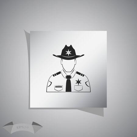 Sheriff Vector icon